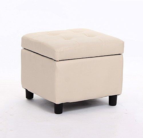 YLYDENGZ ZHDC Sofa-Hocker Continental Schuhbank Aufbewahrungsschemel Betthocker Lederhocker Aufbewahrungshocker Niedriger Hocker Schuhe Bank Sofa Hocker Fauler Stuhl Farbe  Beige