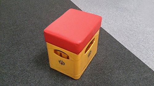 Möbel Akut Sitzhocker Soccer-Hocker Bierkasten Sitz Polster Rot