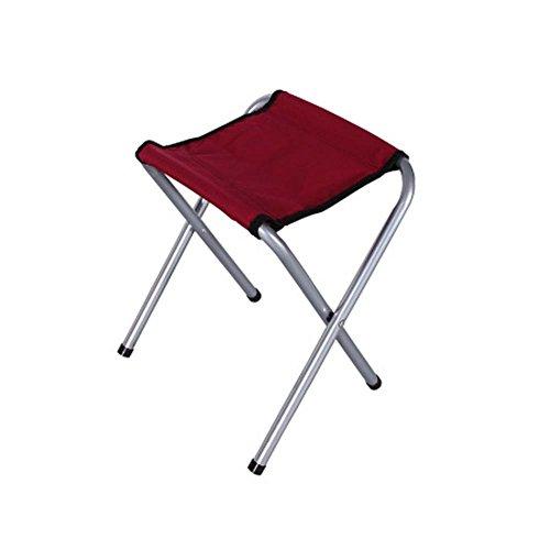 UGUAX tragbar leicht klein Falten Stuhl Camping Klappstuhl Camp Hocker für Wandern Reisen Angeln rot