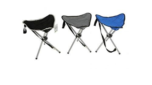 Dreibeinhocker 3-Bein-Hocker Camping-Stuhl Dreibein-Hocker 50cm Sitzhöhe handlich und leicht faltbar