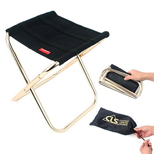 ruick Road Camping Hocker zusammenklappbar Stühle OUTDOOR hochklappen Tragbarer Klapp Stuhl für Wandern Angeln Reisen Outdoor Hocker leicht stabile Stuhl