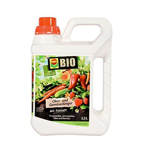 COMPO BIO Obst- und Gemüsedünger für alle Obst- und Gemüsesorten Natürlicher Spezial-Flüssigdünger 25 Liter