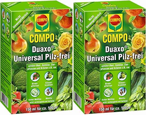 COMPO Duaxo Universal Pilz-frei Bekämpfung von Pilzkrankheiten an Obst Gemüse Zierpflanzen und Kräutern Konzentrat inkl Messbecher 300 ml