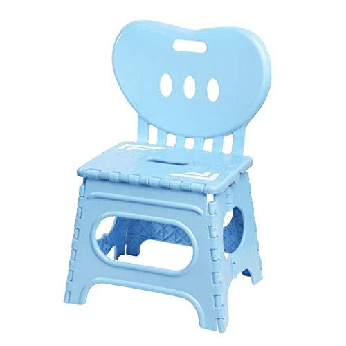 B Blesiya Tragbarer Klappbarer Klapphocker Klappstuhl Hocker Stuhl mit Rückenlehne - Blau-L