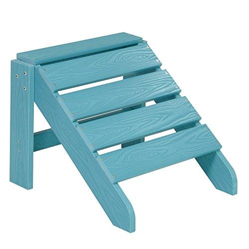 NEG Design Adirondack Fußbank Marcy türkis-blau Westport-HockerFußhocker aus Polywood-Kunststoff Holzoptik wetterfest UV- und farbbeständig