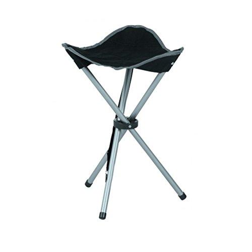Quantio Klappbarer Campinghocker - 3 Beine - mit Tragegurt - schwarz blau oder grau - 31 x 31 x 50 cm LxBxH Stückzahl2 Stück