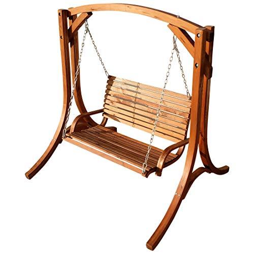 ASS Design Hollywoodschaukel Gartenschaukel Hollywood Schaukel KUREDO-OD aus Holz Lärche von