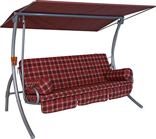 Angerer Dream Hollywoodschaukel 3-Sitzer Design Rio bordeaux 210 x 145 x 160 cm 194105239