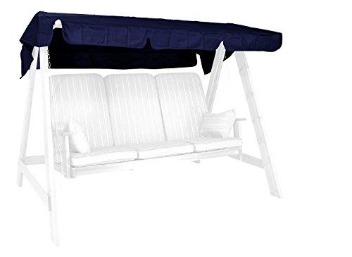 Angerer 990804 Sonnendach für Hollywoodschaukel Polyacryl Blau 193 x 130 cm