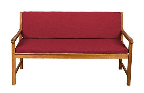 Bankauflage Für Hollywoodschaukel Set Glatt Sitzkissen  Rückenlehne Sparpreise 110x40x50 Rot