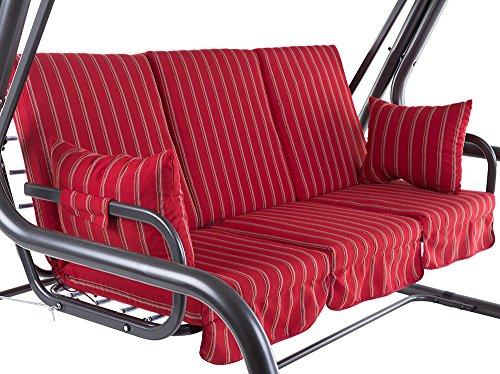 Dajar 466492 Auflagenset für 4-Sitzer Hollywoodschaukel Rimini C033-03SB Patio Rot 115 x 60 x 9 cm