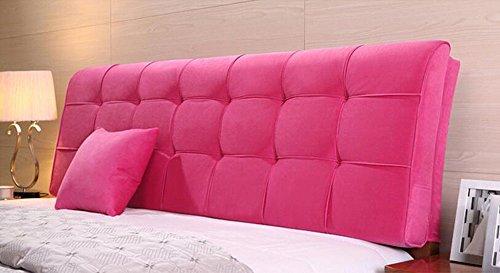 YOTA HOME Bedside Rückenlehne Kissen Dreieckkissen Bett Großes Kissen Doppelbett Weichen Paket Bett Rückenpolster Kissen Lendenstütze Farbe  Pink Größe  20058cm