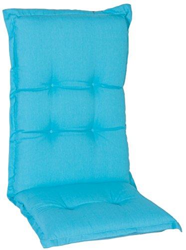 Türkis blaue hochwertige Polsterauflagen Kissen passgenau für Kettler Basic Stühle