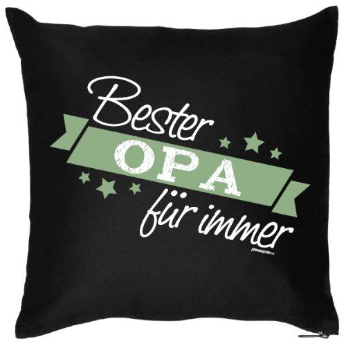 Tolles Kuschelkissen mit Aufdruck für den liebsten Opa - Sofakissen - Lustiges Kissen - Bester Opa für immer Goodman Design