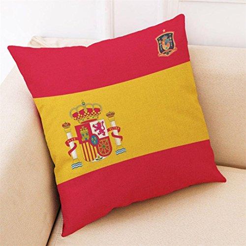 Baifeng Kissenbezug Flagge Russland Fifa World CupFußballTeam Nationalflagge Kissen Kissenbezug für Sofa Zuhause Schlafzimmer Dekoration Spanien