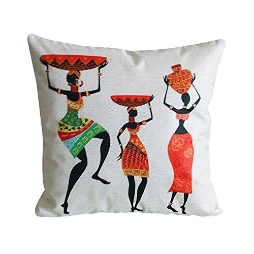 MAYUAN520 Zierkissen Polsterbezüge Dekoration Kissen Afrika Drucken Wirft Kissenbezüge Kissenbezüge Sofa Home Decor Pc 4926
