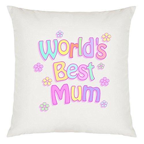 Weltweit beste Mutter Pastell Blumen Design großer Kissenbezug mit Füllung