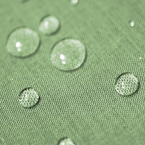Gartentischdecke Lotus Effekt Premium Eckig 130x260 cm Hellgrün Grün - Farbe  Form Größe wählbar mit Fleckschutz - GT_E130x260HGrün