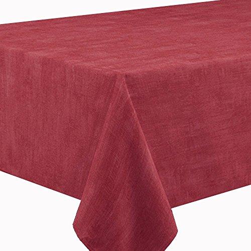 Gartentischdecke SABRINA Eckig 135 x 200 cm Rot  Dunkelrot - Lotus Effekt
