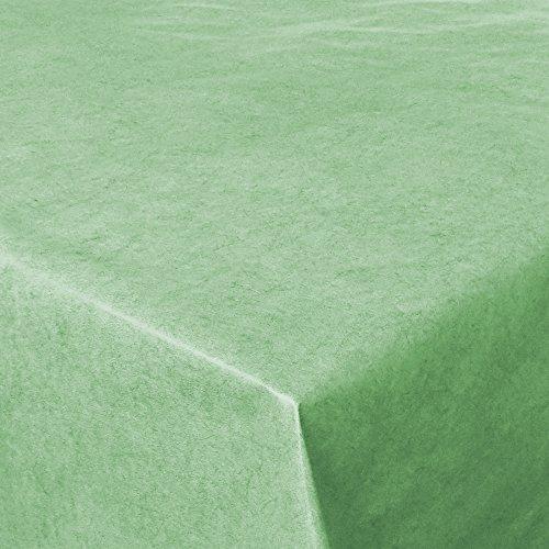 Wachstuch UNI Grün marmoriert · Eckig 140x160 cm · Länge Farbe wählbar LFGB · abwaschbare Tischdecke Gartentischdecke Einfarbig