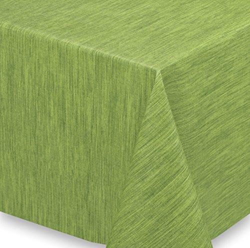 Wachstuch Tischdecke Meterware abwischbar LFBG Reliefdruck Georginias Grün Größe wählbar 240x140 cm