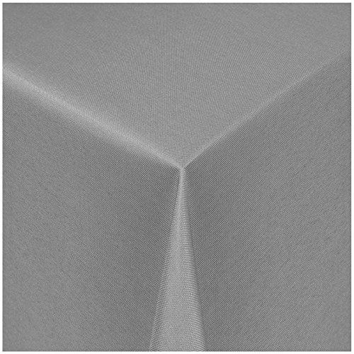TEXMAXX Damast Tischdecke Maßanfertigung im Uni-Design in grau 150x280 cm eckig weitere Längen und Farben wählbar