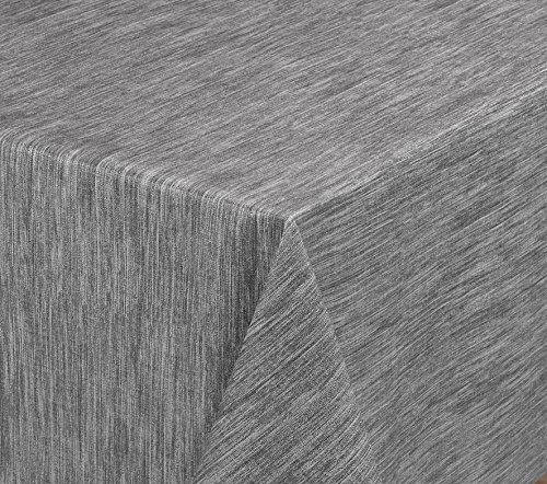 Wachstuchtischdecke rund oval eckig Georginias Tischdecke abwischbar LFGB Farbe und Größe wählbar Eckig 240x140 cm Grau