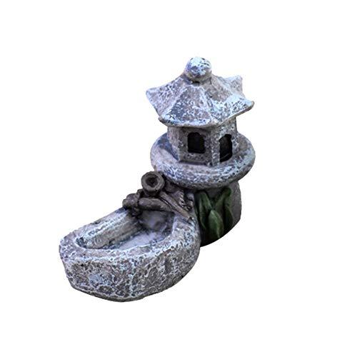 Berrose-Moos Micro Landschaft zubehör Schwimmbad Turm DIY Material Mini Handwerk landschaftsbau Decor Garten Dekoration-Moos Dekoration Wasser Tower Figuren -DIY schöne Ornamente