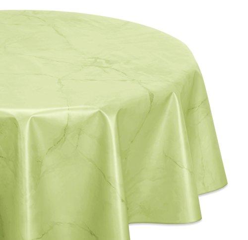 Wachstuchtischdecke glatt abwischbar OVAL RUND ECKIG Marmorstein Wachstuch Garten Tischdecke Größe und Farbe wählbar Rund 120 cm Apfelgrün