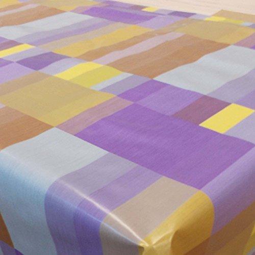 Wachstuch Pixel Lila Kariert· Eckig 125x210 cm · Länge Breite wählbar· abwaschbare Tischdecke