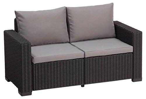 Allibert Lounge Sofa California 2-Sitzer graphitpanama cool grey