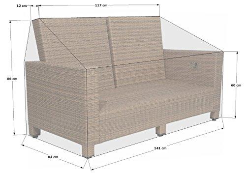 Grasekamp Schutzhülle zu Lanzarote Lounge 2er Sofa