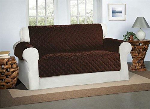 Safari Homeware SchokoladeBrauner 2-Sitzer Sofa Bezug Couchdeckel - Sofa Couch Luxus Gestepptes Möbelschutz