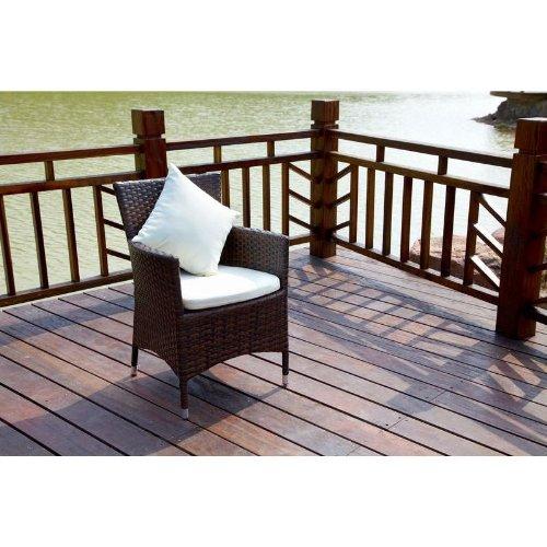 OUTFLEXX 2er-Set Sessel aus hochwertigem Polyrattan braun marmoriert ca 60x605x865 cm inkl weichen KissenPolster Gartenstühle in modernem Design zeitlos vielseitig kombinierbar wetterfest