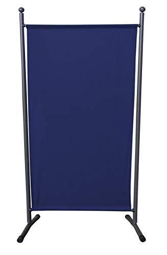 Quick-Star Paravent 180 x 78 cm Stoff Raumteiler Klein Garten Stellwand Trennwand Balkon Sichtschutz Blau