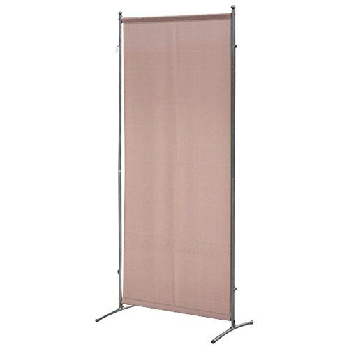 gartenmoebel-einkauf Sichtschutz Trennwand 80x190cm Metall  Textilbespannung taupefarben verlängerbar