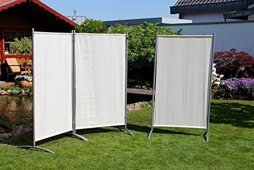BeautyScouts Stellwand 3-teiligStatic BH ca260x156cm Raumteiler Sichtschutz Natur Windschutz Outdoor Standfest Robust