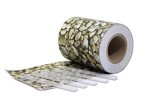 Design Sichtschutz NATURE Zierkies Optik 70 Meter Rolle PVC Windschutz Doppelstabmatten Reissfest  UV-beständig Winddicht Befestigungsclips