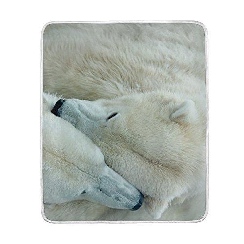 Decke Lover Polar Bär Übergroße Überwurf Decken für Polyester-Couch Sofa-König Queen Size Betten Home Decor Zimmer Betten Steppdecke für Sofa Polyester multi 50x60