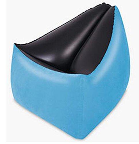 L&Zr Aufblasbarer Lounger-Luft-Sofa-Couch-Stuhl Im Freien Faule Sofa-Luftbeutel Portable-Couch Für Strand Im Freien Innen Büro Für Alle LeuteBlue1