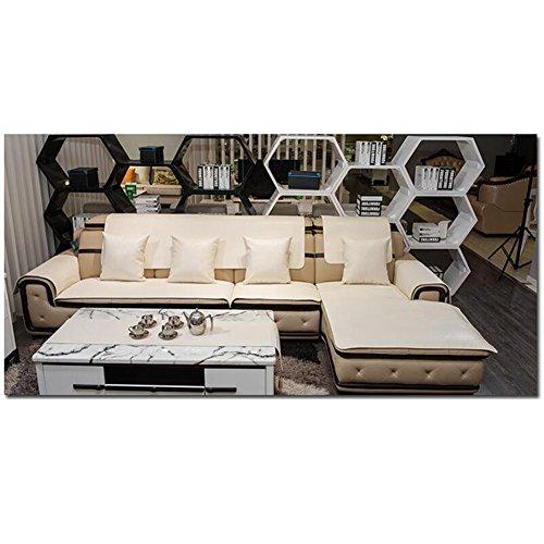 L&Zr Leder-Schonbezüge Wasserdichte Sofabezüge Mit Tasche Stretch Möbel Protector Anti-Rutsch-Elastikband Schild Von Sofa 1 Blatt80  210Cm