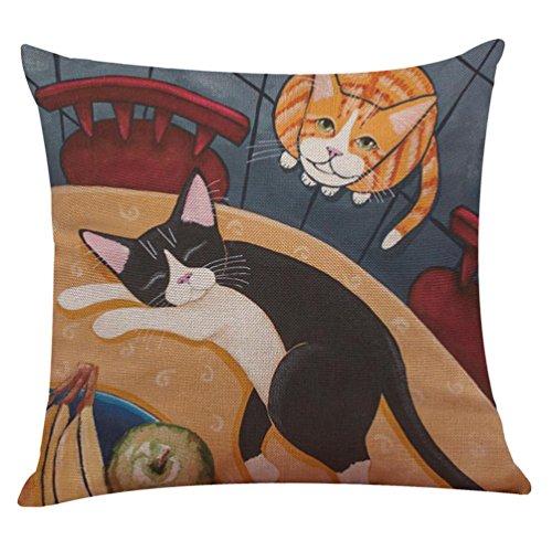 VJGOAL Süße Katze Sofa Zu Hause Dekoration Festival Kissenbezug Kissen Decken L
