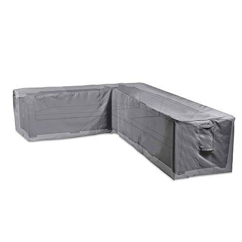VonHaus Abdeckung Adeckhaube für Gartenmöbel Ecksofas – Wasserdichte atmungsaktive Schutzhülle für L-Form Outdoor Sofas – Schutz vor Wind Regen Frost Hitze Staub mehr