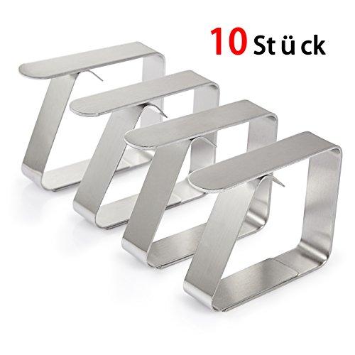 Happylife Tischdeckenklammer 10er-Set Extra Dick Stark 16mm EdelstahlGröße 653 x 151 x 498 cm Cuisine Tischtuchhalter Tischtuchklammern
