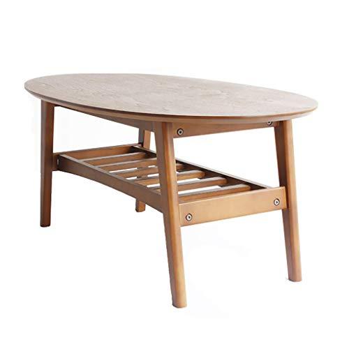 Folding table tu Couchtisch Kleiner Tisch Massivholz Kreativ Doppelschicht Oval Haushaltsholz Niedriger Tisch Farbe  B