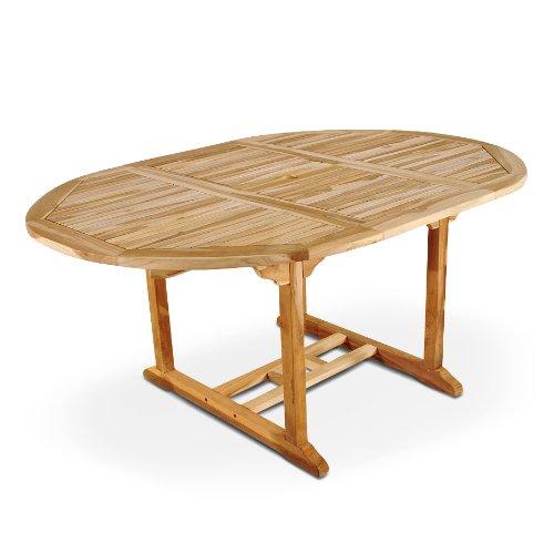 SAM Garten-Tisch Aruba Auszieh-Tisch aus Teak-Holz 180-240 cm Massivholz für Garten oder Terrasse
