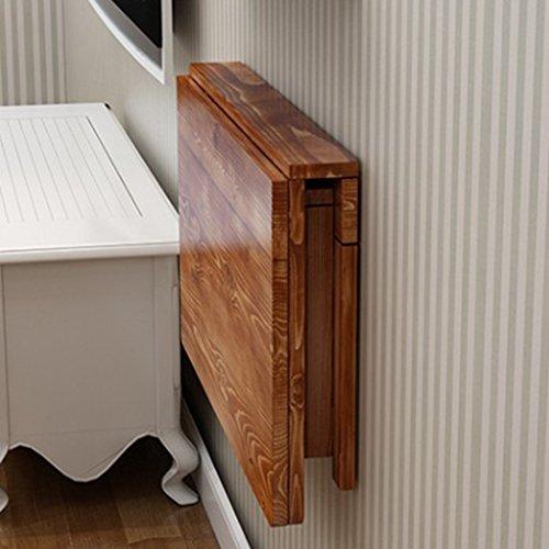 ZfgG Massivholz Klapptisch Wand Tisch Esstisch Computer Tisch Studie Schreibtisch Wand Tabellen Wand-Klapptisch größe  70  40cm