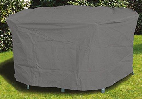 acamp Schutzhülle für Tisch oval Gartenmöbel Anthrazit 113x75x102 cm