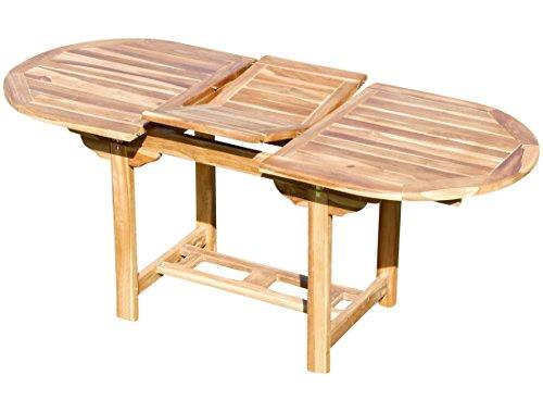 ASS Echt Teak Ausziehtisch 140-180 x 80 cm Holztisch Gartentisch Tisch Ausziehbar Holz Mod Summer von