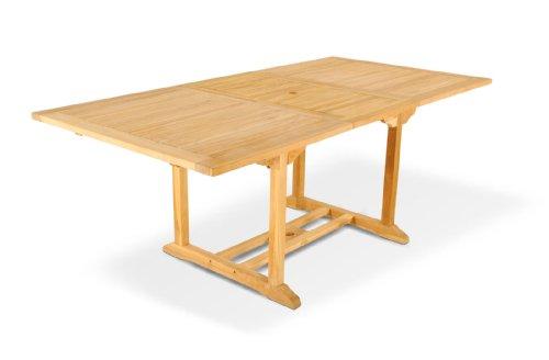 SAM Gartentisch Caracas Ausziehtisch aus Teak-Holz massiver Holztisch bis 200 cm Länge für Balkon Terrasse oder Garten